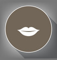 lips sign white icon on vector image