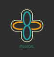 medical logo icon design vector image