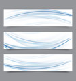 set of banner templates modern abstract design vector image