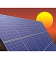 solar energy panel vector image