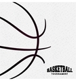 basketball league emblem classic vector image