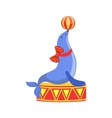 Circus Trained Sealion Animal Artist Performing vector image