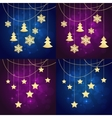 snowflakes chrisrtmas background vector image