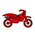 enduro motorcycle silhouette vector image