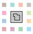 isolated floor plan icon blueprint element vector image