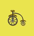 antique highwheel bike 1885 in sticker style vector image vector image