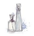 Beautiful perfume bottle vector image