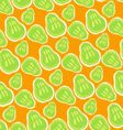 pattern of green pears vector image