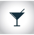 Glass with a cocktail icon vector image