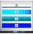 Handmade banners or bars set for design vector image
