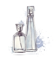 Beautiful perfume bottle vector image