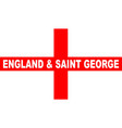 flag of england and saint george vector image