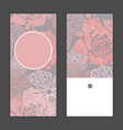 hand drawn flowers invitation greeting cards vector image