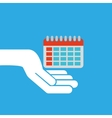 hand hold icon smartphone and calendar design flat vector image
