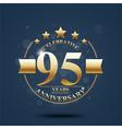 Happy anniversary celebration on Gold design vector image
