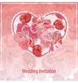 invitation for wedding vector image