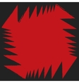 Red black angle aggressive colorful strong vector image