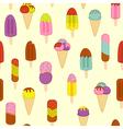 seamless pattern ice cream vector image
