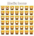 Set of Media and Music Icons vector image
