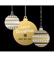 Gold Christmas New Year elegant bauble ornament vector image