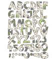 Retro paisley font set vector image vector image