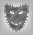 comedy theatrical masks pencil sketch vector image