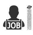 unemployed icon with job bonus vector image