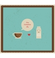 coffee and milk best friends vector image
