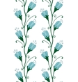 Bluebell Flowers Seamless Pattern vector image
