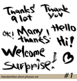 thanks 380 vector image vector image
