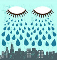 city and eye vector image