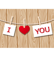 hearts clothespins 12 vector image