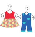 baby clothing vector image vector image