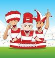 Group of Austria Sport Fans vector image
