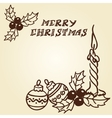 Christmas bells doodles vector image