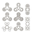 fidget finger spinner set vector image