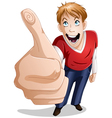 Guy Smiles With Thumbs Up vector image