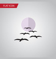 isolated birds flat icon gull element can vector image