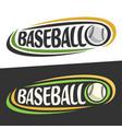 logos for baseball sport vector image