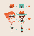 man and woman couple in love vector image