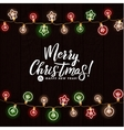 Merry Christmas and Happy New Year Glowing vector image