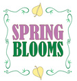 Spring Blooms vector image