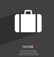 suitcase icon symbol Flat modern web design with vector image