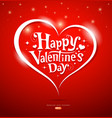 Happy Valentine Day lettering Greeting Card vector image vector image