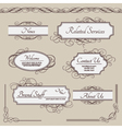 Set of vintage labels frames borders vector image