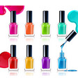 nail polish assortment vector image
