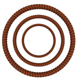 Brown rope in three sizes vector image