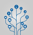 Icon tree communication and technology concept vector image