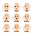 Set of an old man emotions simple flat design vector image