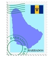 mail to-from Barbados vector image